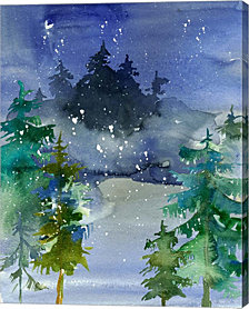 Watercolor Winter by Tara Moss Canvas Art