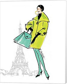 Colorful Fashion Ii - Paris By Anne Tavoletti Canvas Art