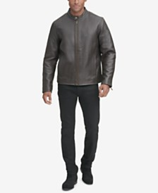 Cole Haan Men's Leather Moto Jacket