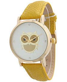 Owl Leather Strap Watch