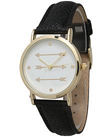 Three Arrows Leather Strap Watch