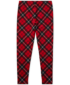 Polo Ralph Lauren Big Girls Tartan Jersey Leggings