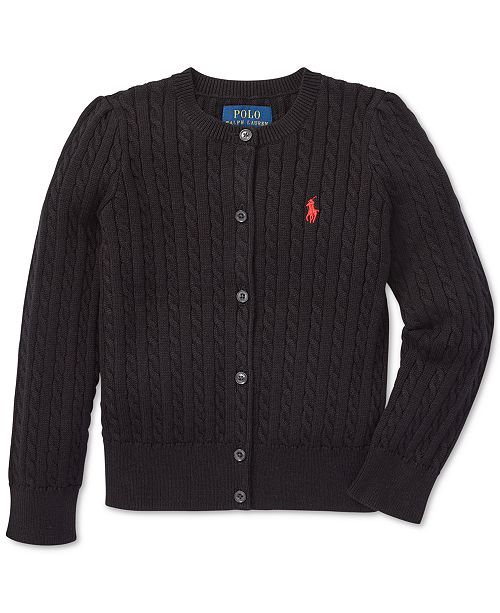 Polo Ralph Lauren Toddler Girls Cable-Knit Cardigan