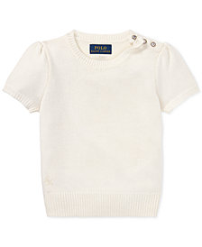 Polo Ralph Lauren Little Girls Short-Sleeve Sweater