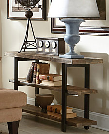 """Pomona 48"""" Metal and Reclaimed Wood Media/Console Table"""
