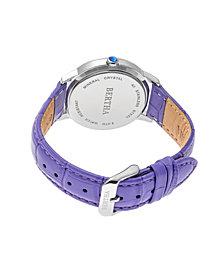 Bertha Quartz Madeline Collection Purple Leather Watch 36Mm