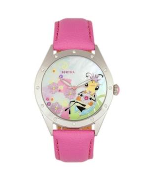 Quartz Ericka Collection Light Pink Leather Watch 38Mm