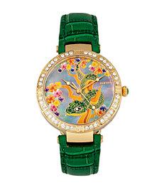 Bertha Quartz Mia Collection Green Leather Watch 38Mm