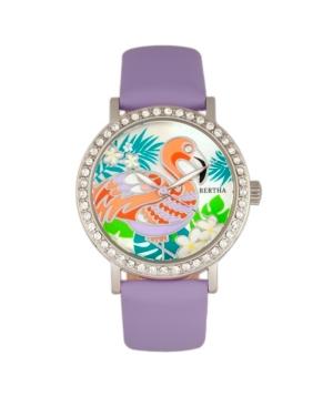 Quartz Luna Collection Lavender Leather Watch 35Mm