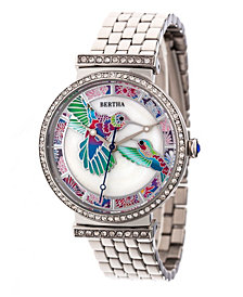 Bertha Quartz Emily Collection Silver Stainless Steel Watch 37Mm