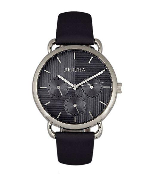Bertha Quartz Gwen Collection Black Leather Watch 36Mm