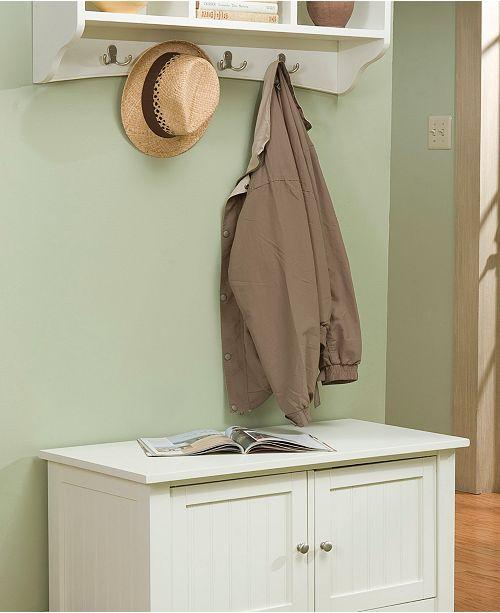 Product Details Shaker Cottage Storage Bench And Coat Hook Set