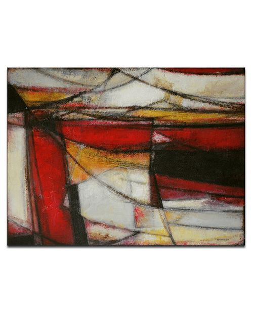 Ready2HangArt 'Excited' Red Abstract Canvas Wall Art, 20x30""