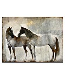 "'Gentle' Equestrian Canvas Wall Art, 30x20"""