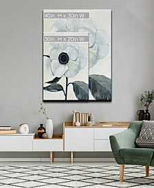 Ready2HangArt 'Elegant Poppy II' White Floral Canvas Wall Art Collection