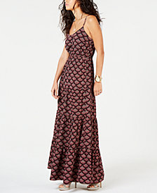 MICHAEL Michael Kors Printed A-Line Maxi Dress