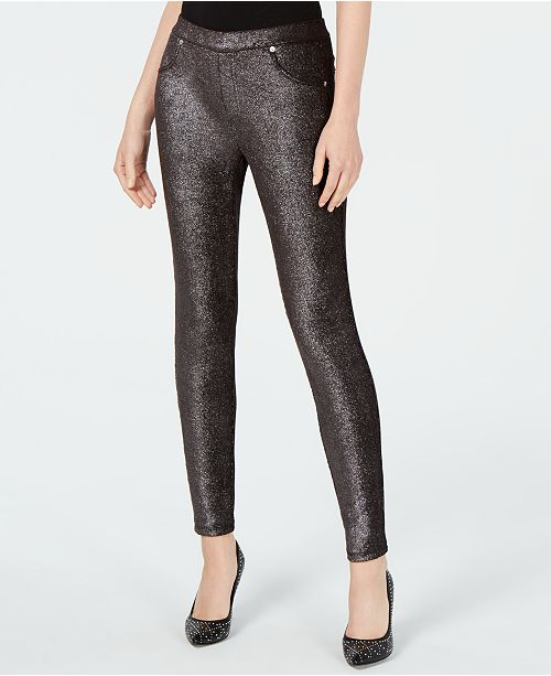 Michael Kors Metallic Foil Pull-On Leggings, Regular & Petite