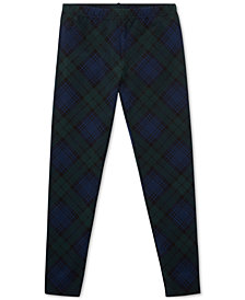 Polo Ralph Lauren Big Girls Cotton Tartan Leggings