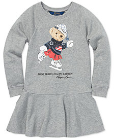 Polo Ralph Lauren Little Girls Ice Skating Bear Dress