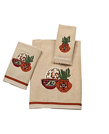 Avanti Sun Valley Embroidered Fingertip Towel