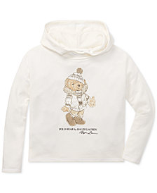 Polo Ralph Lauren Big Girls Holiday Bear Hoodie