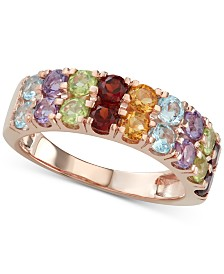 Multi-Gemstone (2-1/6 ct. t.w.) Ring in 14k Rose Gold