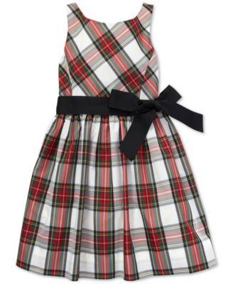 Big Girls Tartan Fit & Flare Dress