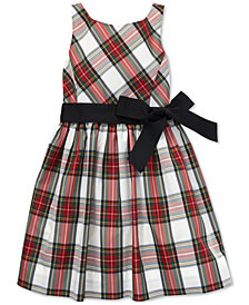 Polo Ralph Lauren Big Girls Tartan Fit & Flare Dress