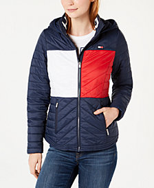 Tommy Hilfiger Sport Flag Hooded Puffer Jacket, Created for Macy's