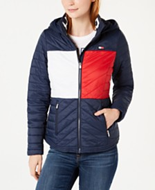 Tommy Hilfiger Sport Flag Hooded Puffer Jacket