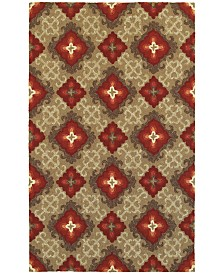 CLOSEOUT! Tommy Bahama Home   Atrium Indoor/Outdoor 51109 Brown/Red 8' x 10' Area Rug