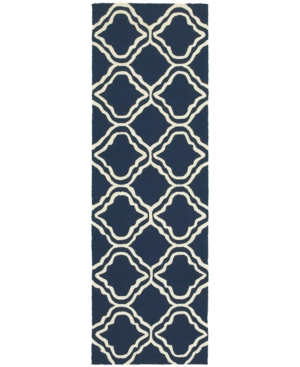 Closeout! Tommy Bahama Home Atrium Indoor/Outdoor 51111 Blue/Ivory 2'6
