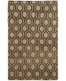 Tommy Bahama Home  Maddox 56504 Brown/Blue Area Rug