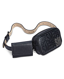 Steve Madden Logo Double-Pouch Fanny Pack