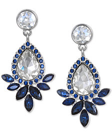Jewel Badgley Mischka Silver-Tone Crystal Drop Earrings