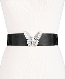I.N.C. Imitation Pearl & Rhinestone Butterfly Belt, Created for Macy's