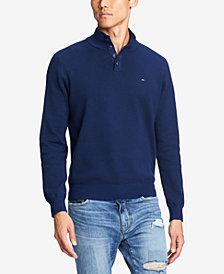 Tommy Hilfiger Men's Bridge Mock-Collar Sweater, Created for Macy's