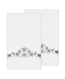 Bella 2-Pc. Embroidered Turkish Cotton Bath Towel Set