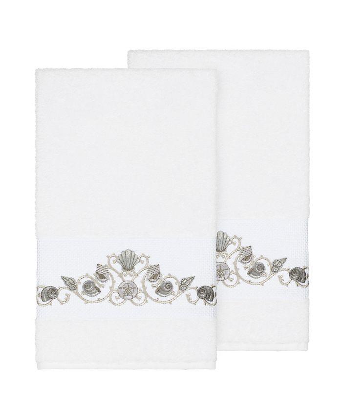 Linum Home - Bella 2-Pc. Embroidered Turkish Cotton Bath Towel Set