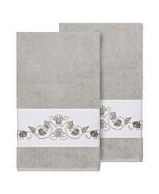 Bella 2-Pc. Embroidered Turkish Cotton Bath Towel Set