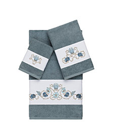 Linum Home Bella 3-Pc. Embroidered Turkish Cotton Towel Set