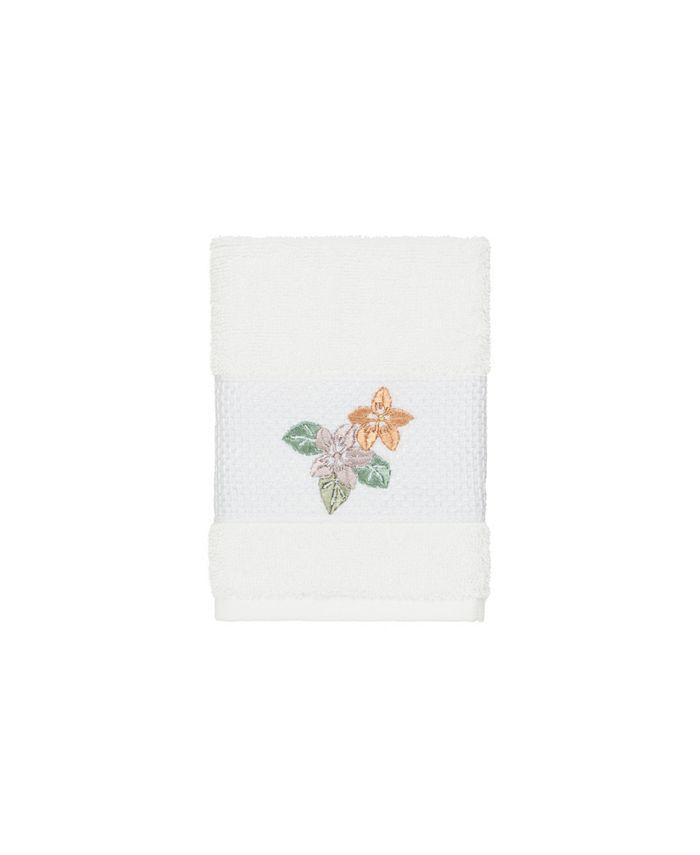 Linum Home - Caroline Embroidered Turkish Cotton Washcloth