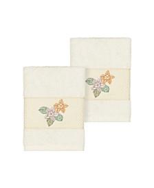 Caroline 2-Pc. Embroidered Turkish Cotton Washcloth Set
