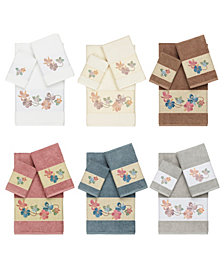 Linum Home Caroline Embroidered Turkish Cotton Bath Towels