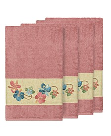 Caroline 4-Pc. Embroidered Turkish Cotton Bath Towel Set