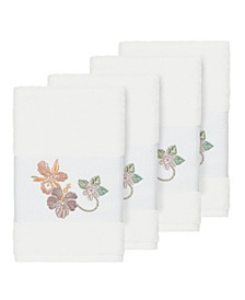 Caroline 4-Pc. Embroidered Turkish Cotton Hand Towel Set