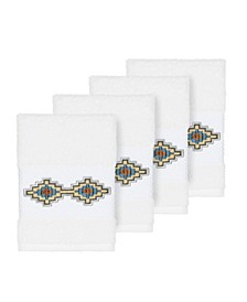 Gianna 4-Pc. Embroidered Turkish Cotton Washcloth Set