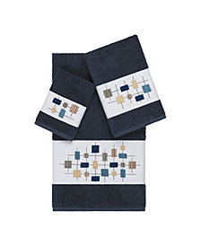 Linum Home Khloe 3-Pc. Embroidered Turkish Cotton Towel Set