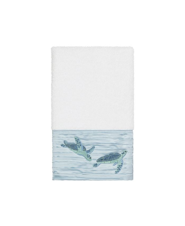 Linum Home - Mia Embroidered Turkish Cotton Hand Towel