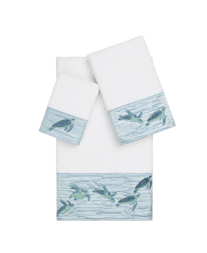 Linum Home - Mia 3-Pc. Embroidered Turkish Cotton Towel Set